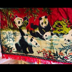 Vintage Swan Panda Tapestry